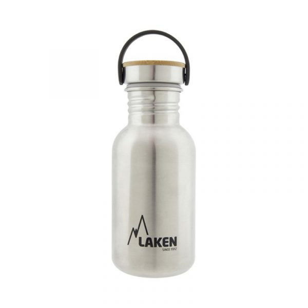 Laken Botella BASIC STEEL 0,50l Tapón Bambú 0,5l-0